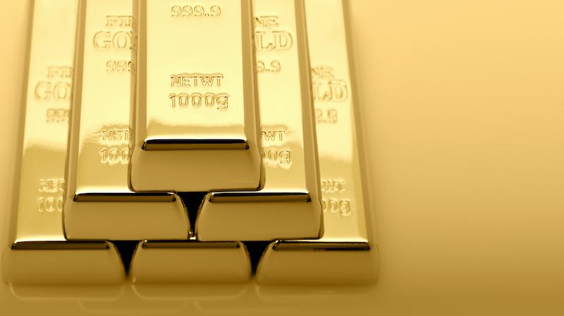 Stack of gold bars