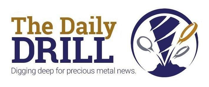 Logo of The Daily Drill digging deep for precious metals