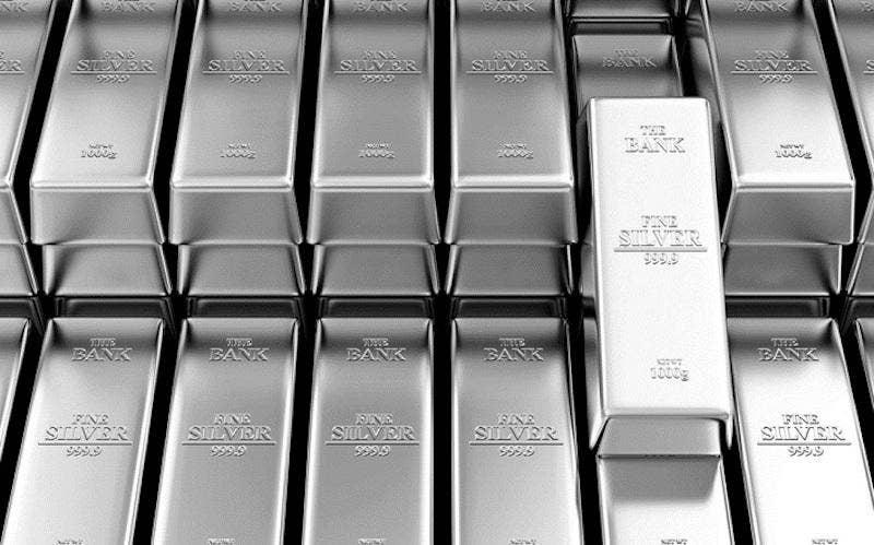 Silver bar stacks