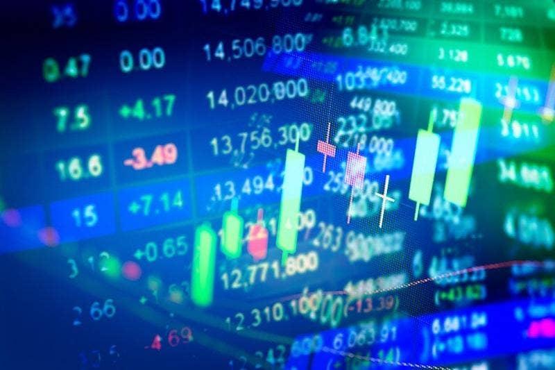 Digital graphs reflecting market trends