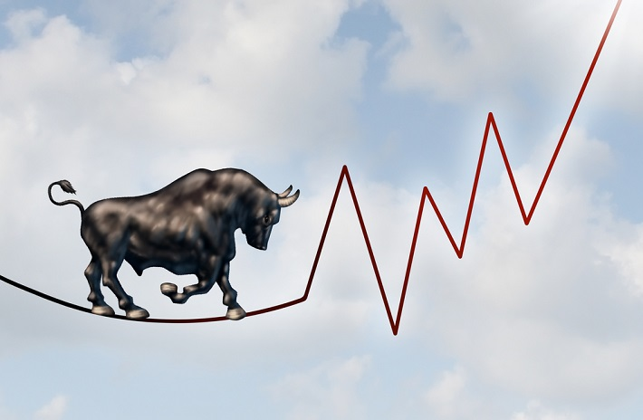 A bull walking on the graph