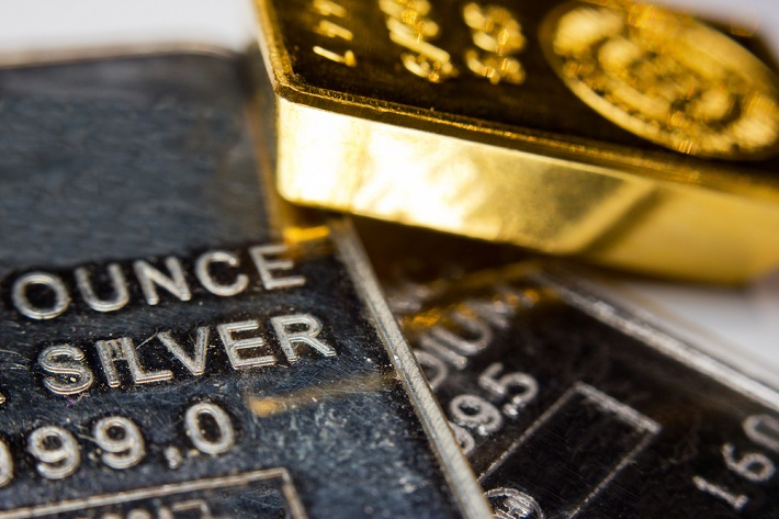 Gold and Silver shining bars