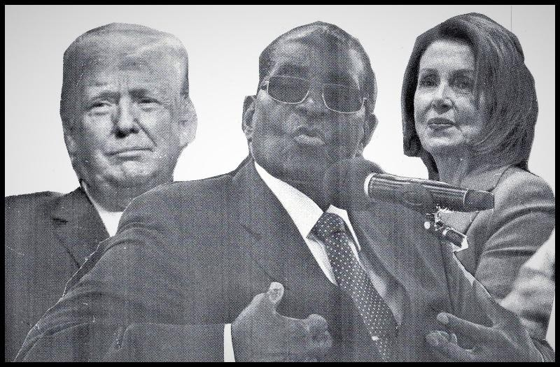 U.s. President Donald Trump and late Robert Mugabe (former prime minister of Zimbabwe)
