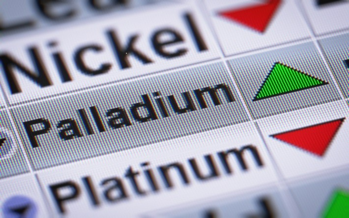 Images shows Nickel, Palladium, and Platinum price going up and down