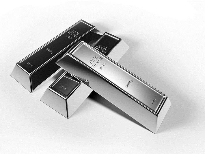 Three silver bars sitting in a shape of T