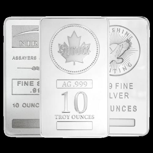 10 oz Silver Bars - Mint Varies