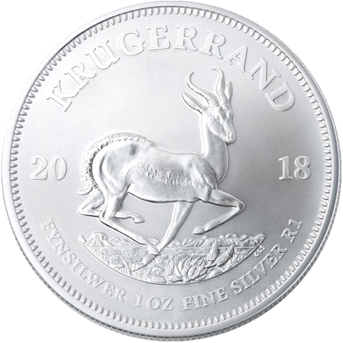 1 oz South African Silver Krugerrand Coin (Random Year)