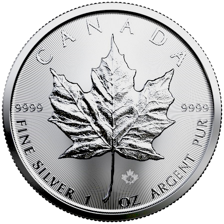 2020 1 oz Canadian Maple Leaf Silver Coin BU - RCM