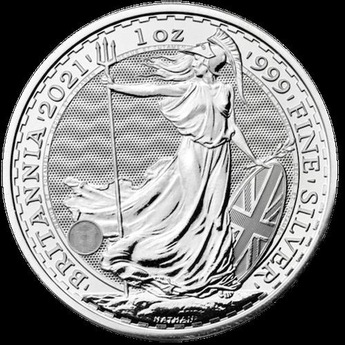 2021 1 oz Great Britain Britannia Silver Coin
