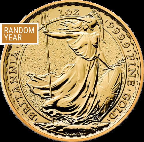 1 oz Great Britain Britannia Gold Coin (Random Year)
