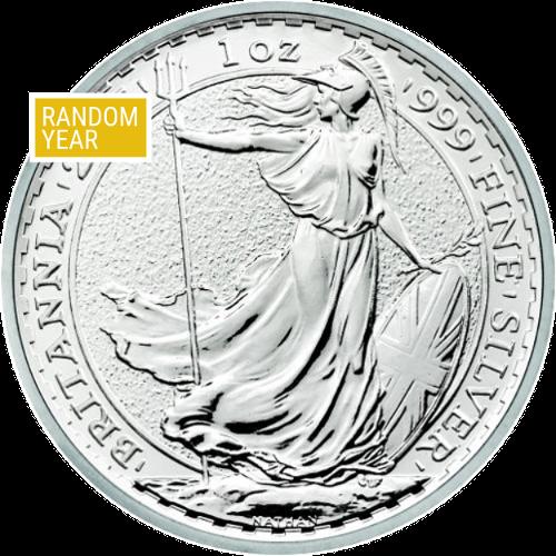 1 oz Great Britain Britannia Silver Coin (Random Year)