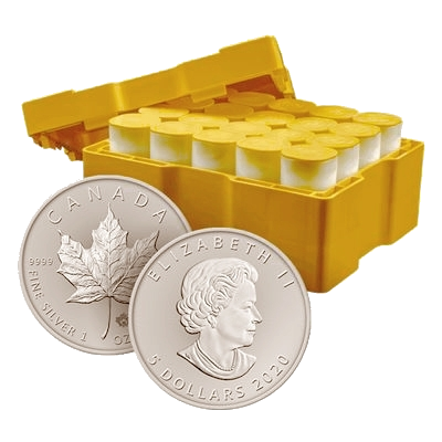 500 x 1 oz 2020 Canadian Maple Leaf Silver Coin Monster Box