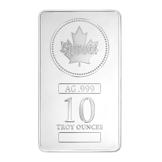 Sprott 10 oz Silver Bar