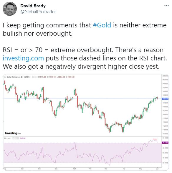 David Brady tweet