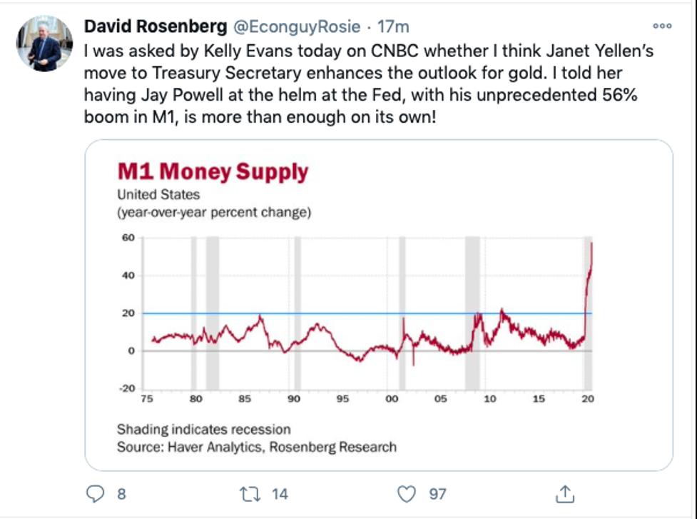 David Rosenberg tweet