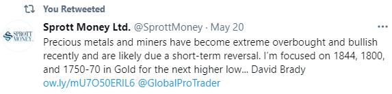 Sprott Money tweet