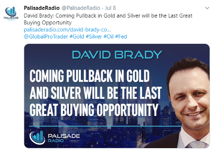 Tweet featuring David Brady