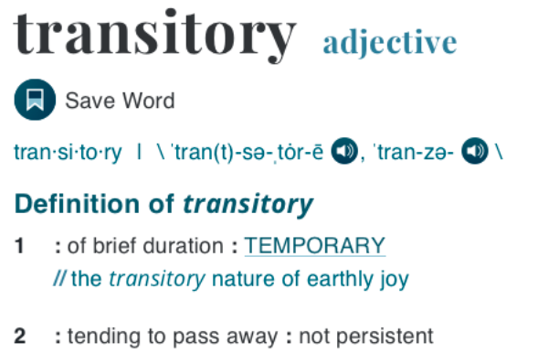Transitory definition