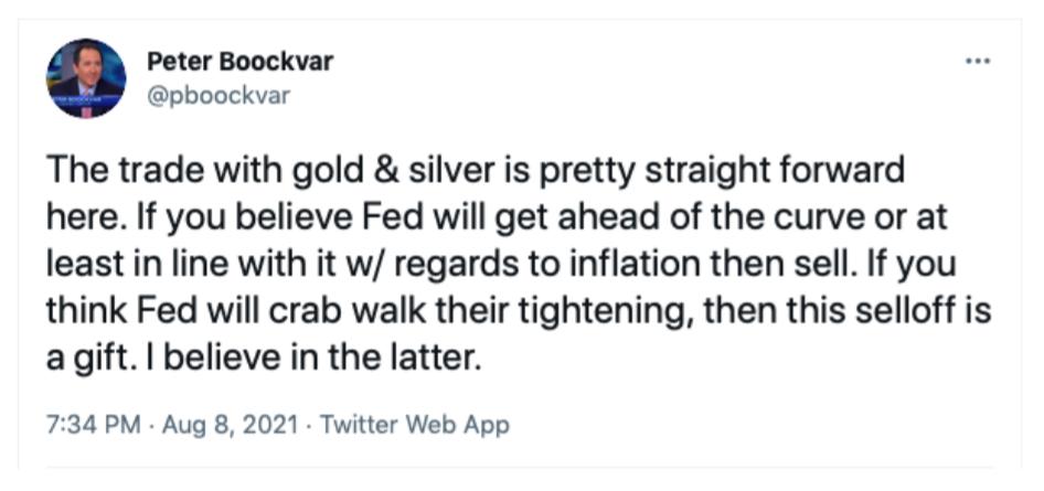 Peter Boockvar tweet