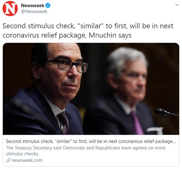 Tweet snapshot from Newsweek