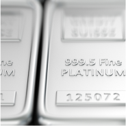 999.9 fine Platinum bars